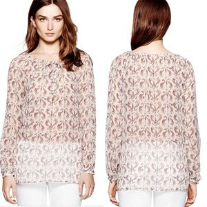 Tory Burch Tops - Tory Burch Sophie tunic seahorse print
